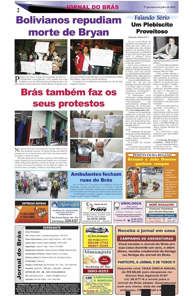 Destaques da Ed. 232 - Jornal do Brás