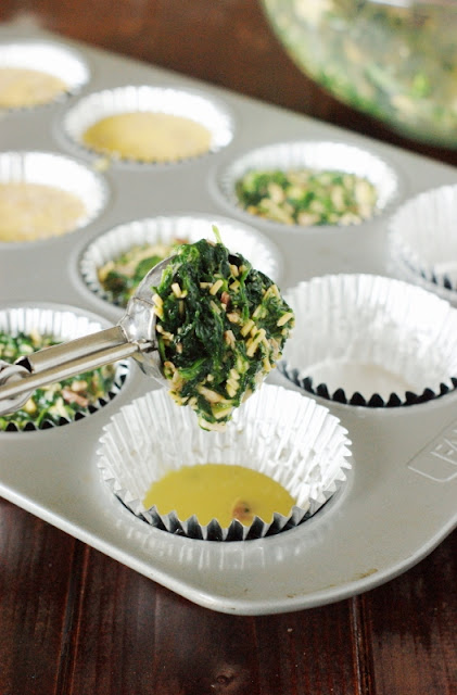 Make-Ahead Individual Bacon & Spinach Breakfast Casserole Cups   www.thekitchenismyplayground.com