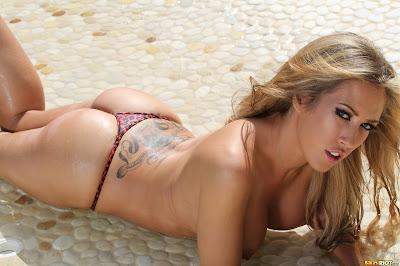 BikiniRiot Capri Cavanni Red Cheetah V Back Picture Set