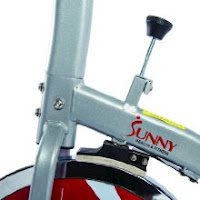 Resistance knob & push-down brake on Sunny Health & Fitness SF-B1203 spin bike