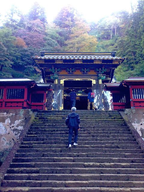 妙義神社の急峻な石段