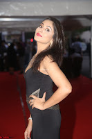 Madhu Shalini in a Glamorous Deep neck Black Sleeveless Dress at Mirchi Music Awards South 2017 ~  Exclusive Celebrities Galleries 020.JPG