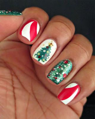 uñas decoradas navidad