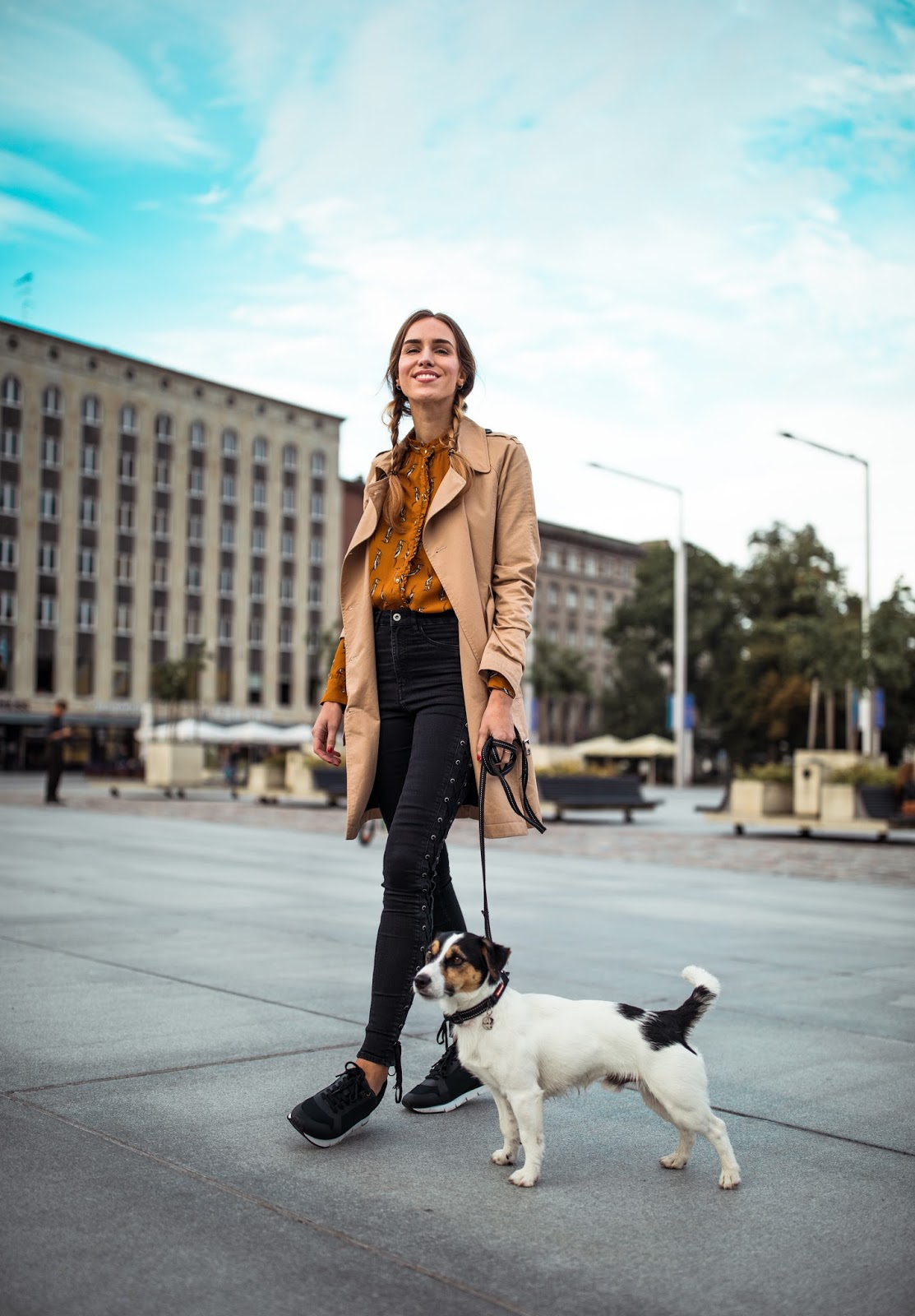 trench coat outfit timeless fall style