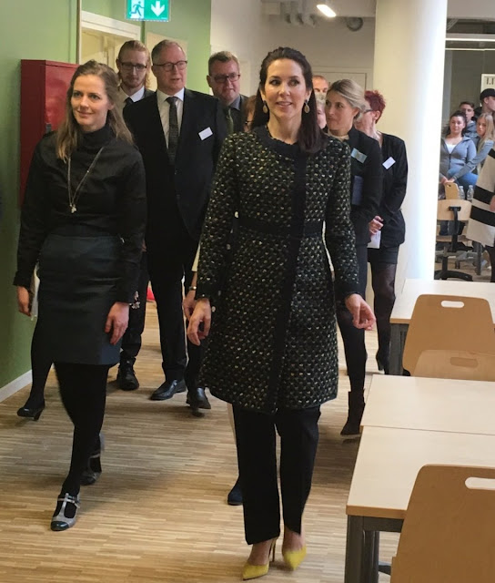 Crown Princess Mary of Denmark opened a new social and health school (Sopu-school) in Vesterbro