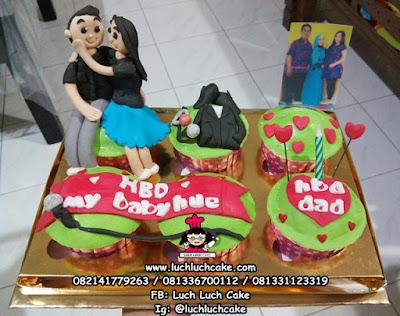Cupcake Ulang tahun Romantis Surabaya - Sidoarjo - Gresik