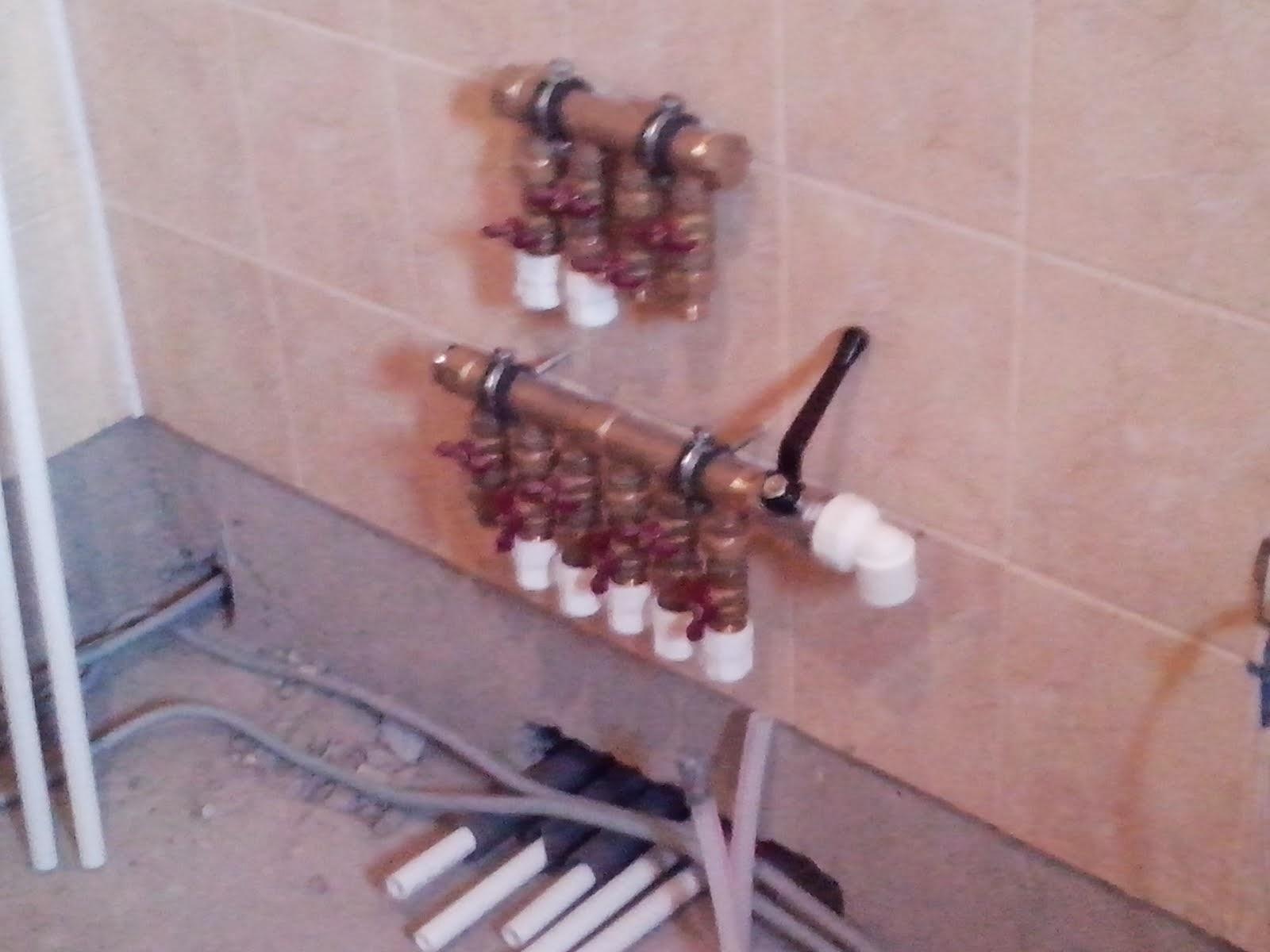 монтаж коллектора системы водоснабжения частного дома
