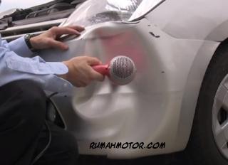Cara Memperbaiki Bodi Mobil Toyota Agya yang Penyok