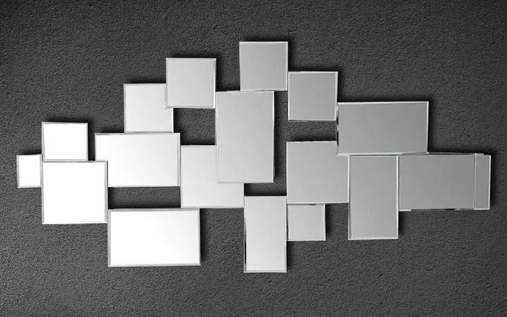 Espejo decorativo, espejo moderno, espejo cristales
