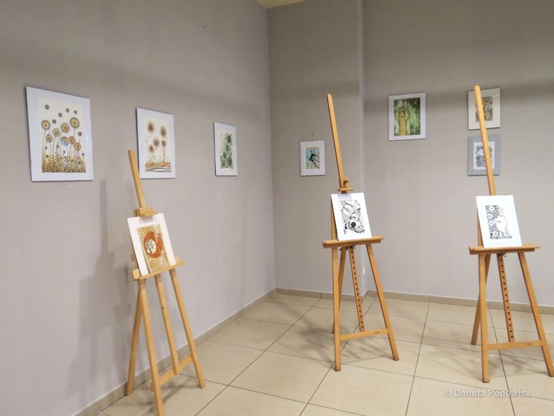 Gliwice, CH Forum - wystawa rysunku
