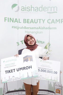 Pemenang Tiket Umroh Aishaderm di Final Beauty Camp- Rara Febtarina Lifestyle, Beauty, and Fashion Blogger
