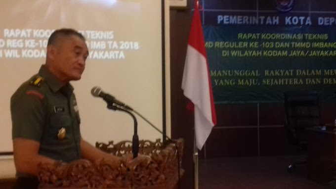 Aster Kasdam Jaya Buka Rakornis TMMD Reguler ke-103