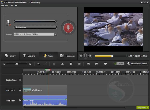برنامج acdsee للتعديل على الفيديو