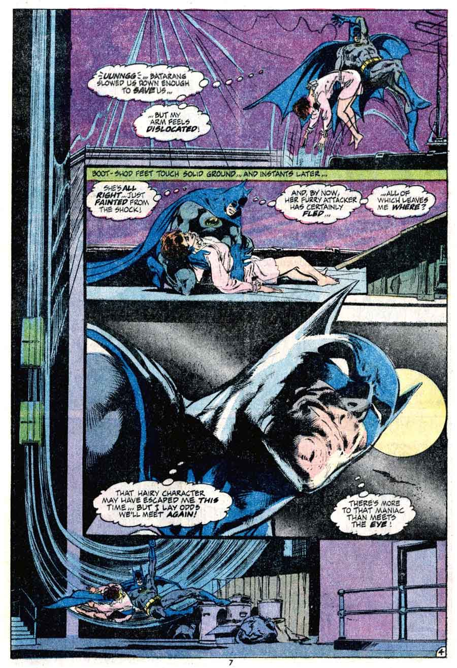 Batman v1 #255 dc comic book page art by Neal Adams