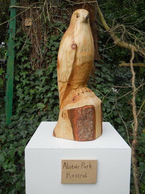 kestrel bird sculpture