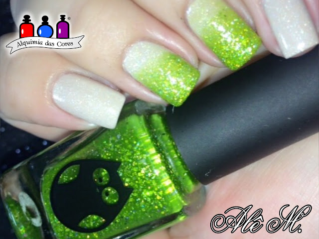 Picture Polish Cherish by Anna Gorelova, Anna Gorelova by Dance Legend, 01 Princess Frog / Царевна-лягушка, Nude, Holografico, Verde, Translucido, Glitter, Carimbado, Kelly Negri, KN13, DRK Extra Black, Seche Vive, Alê M.