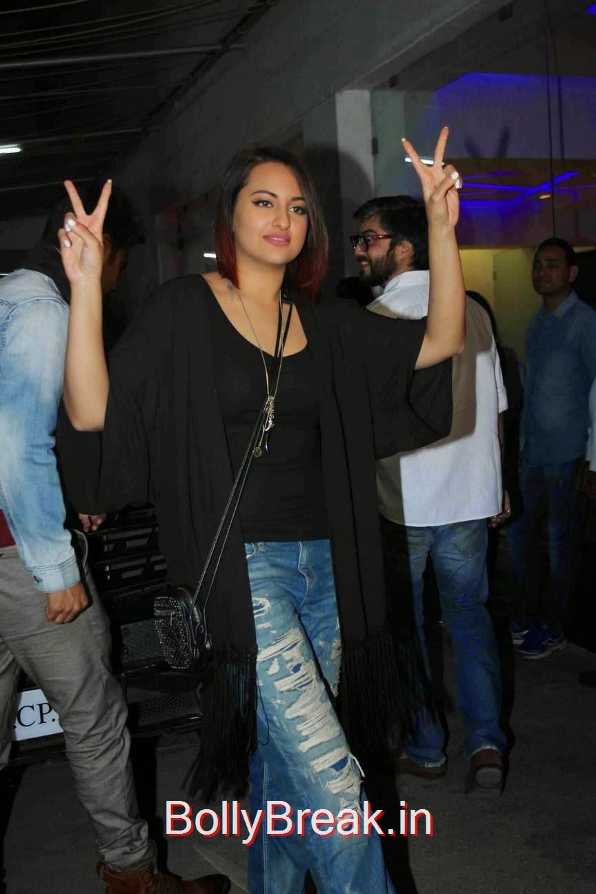 Sonakshi Sinha Unseen Stills, Sonakshi Sinha Hot Pics At Tevar Movie Special Screening
