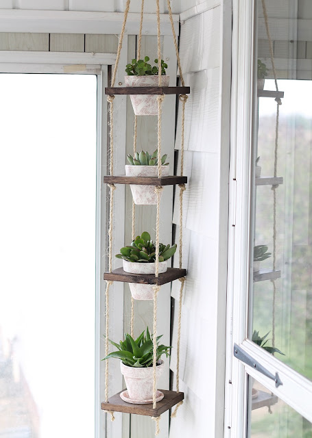 Make your own vertical hanger plant via iheartnaptime.net