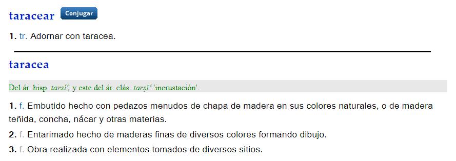 Taracear - definición
