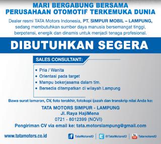 Bursa Kerja TATA MOTORS SIMPUR Lampung