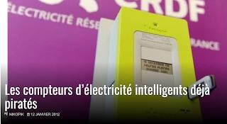 Les compteurs d'électricité déjà piratés