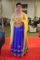 Actress Eesha in Yellow Choli Blue Ghagra at Darshakudu music launch 032.JPG