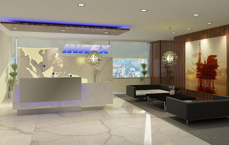 Prasetyos Design Journal Reception Area For Corporate Office