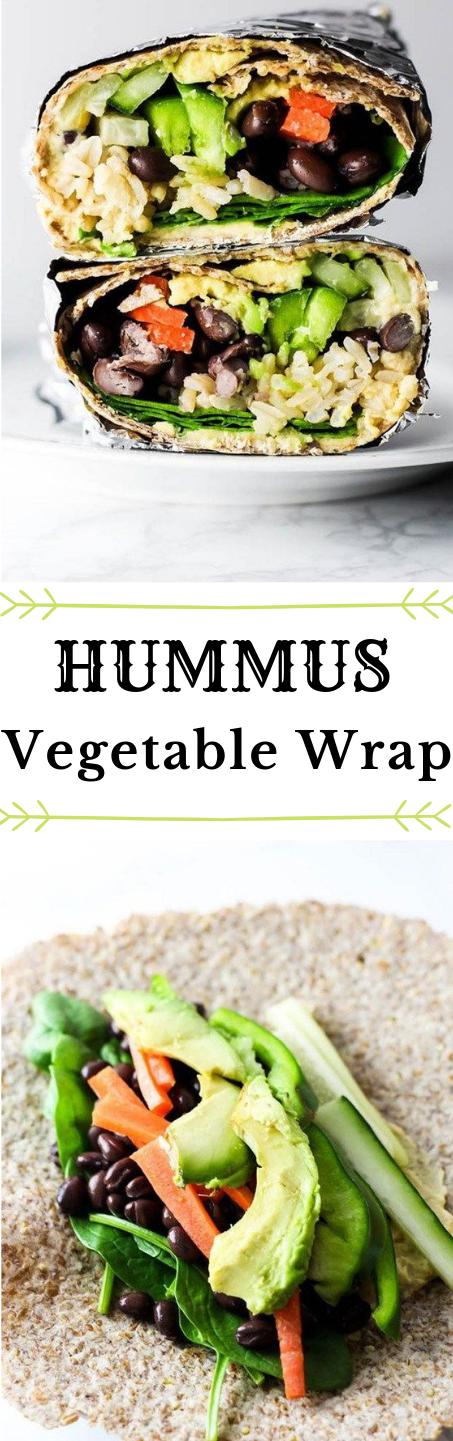 HUMMUS VEGETABLE WRAP #vegetable #wrap