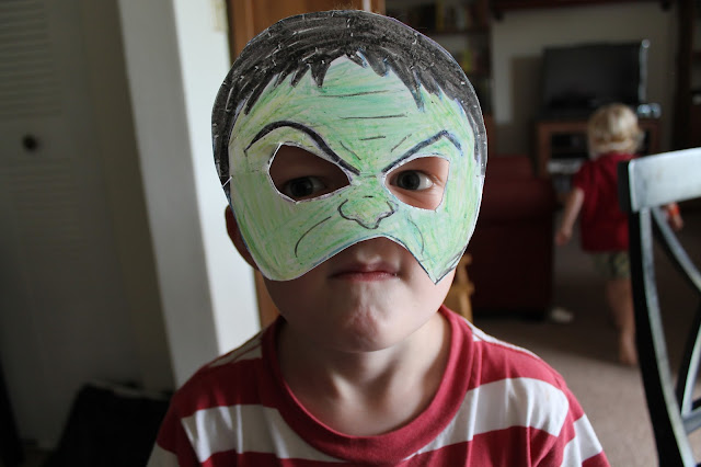 freshly completed  how to make super hero masks in under 10 minutes