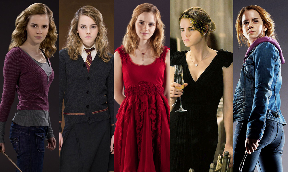 Gaun dress merah Emma Watson Sebagai Hermione Jean Granger di Serial Harry Potter