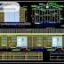 مخطط تركيب وحدة فصول دراسية جاهزة هياكل معدنية اوتوكاد dwg