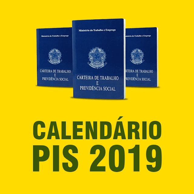 calendáriodo PIS 2019