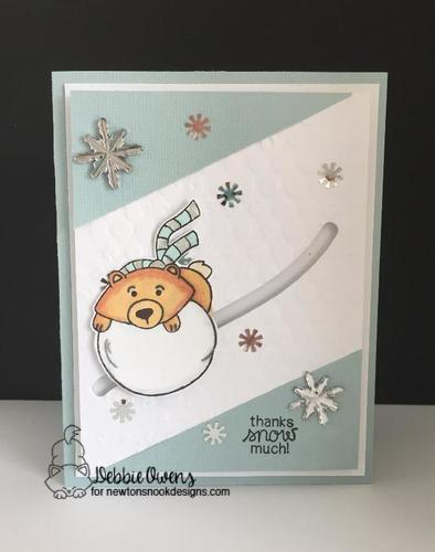Thanks snow much by Debbie features Winter Tails by Newton's Nook Designs; #newtonsnook