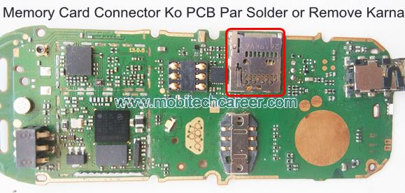 How to solder & remove Memory Card connector socket on pcb of a mobile cell phone in mobile phone repairing in hindi