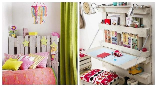 40+ Κατασκευές από Παλέτες για νεανικά - παιδικά δωμάτια