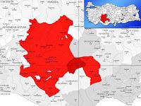 Karapınar ilçesinin nerede olduğunu gösteren harita