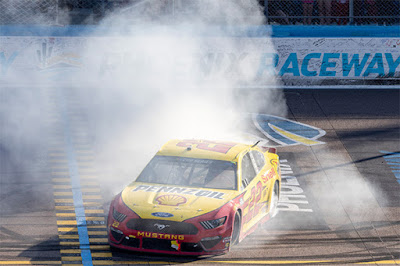 """We learned that this No. 22 Shell Pennzoil Ford team is just stout and is not going to get beat if we have the opportunity,"" commented Logano in Victory Lane."