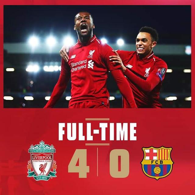 ريمونتادا تاريخية... ليفربول يسحق برشلونة برباعية نظيفة ويتأهل لنهائي دوري الأبطال