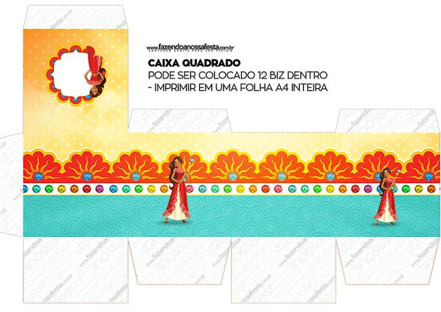 Cajas Cubo  de Elena de Avalor para imprimir gratis.