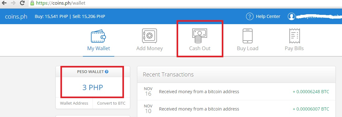 how to withdraw bitcoins to cash philippines