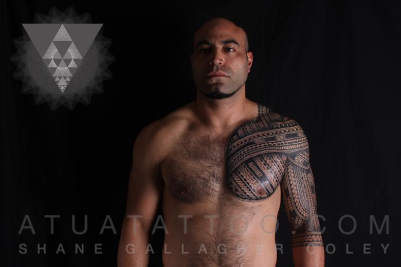 06b2fdb49 Atua Tattoo: POLYNESIAN CHEST & SLEEVE TATTOO, TATAU