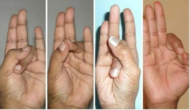أمسك أصابع يدك بالترتيب مثل ما بالصوره وشاهد النتيجه المذهله قم بالتجربه !
