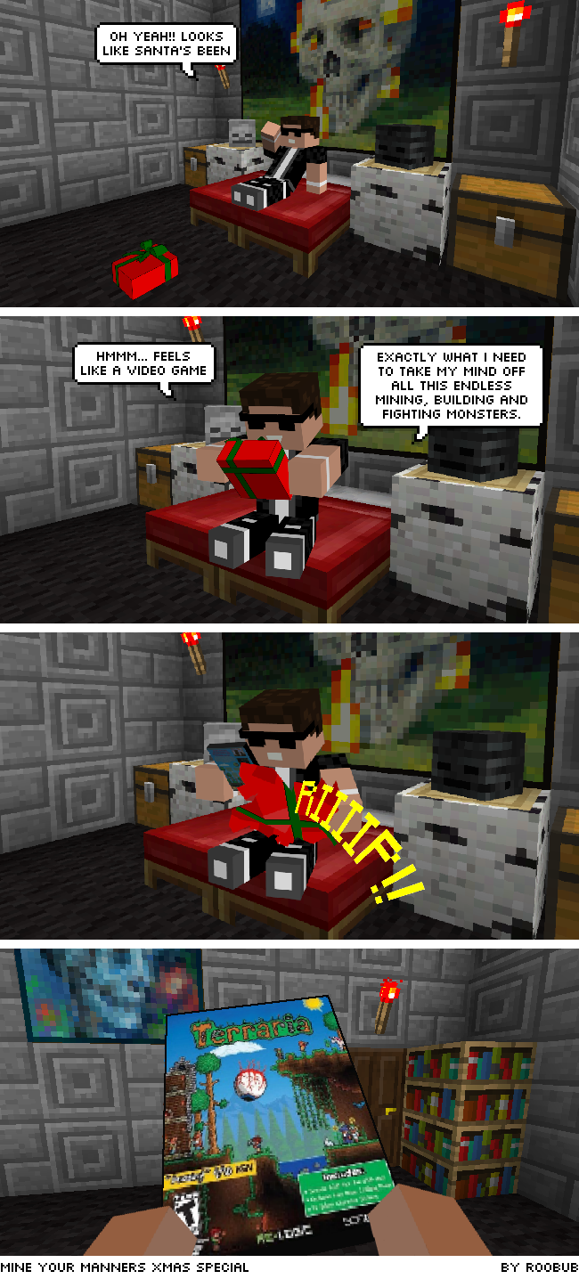 Minecraft Web comic Christmas
