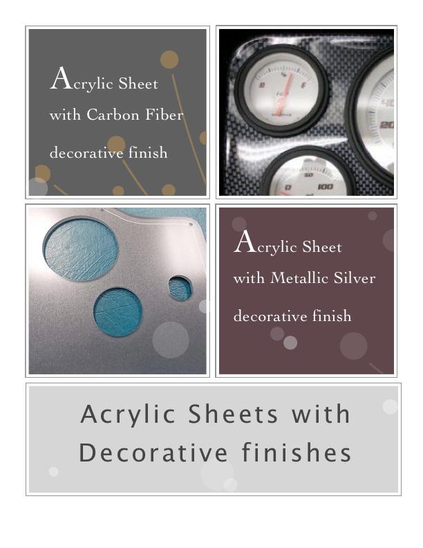 Laserable Acrylic Sheet with Carbon Fiber finish | Acrylic