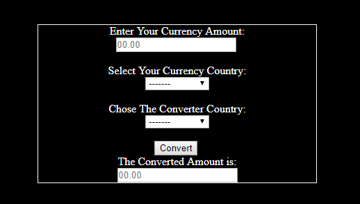 Currency Converter using JavaScript