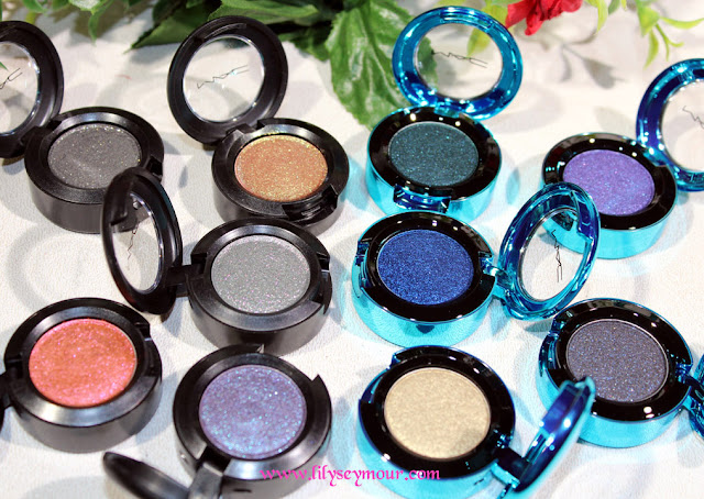 Mac Dazzleshadow Pigments Swatches