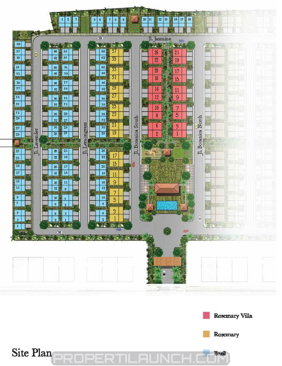 Site Plan Cluster Botanica Vida Bekasi