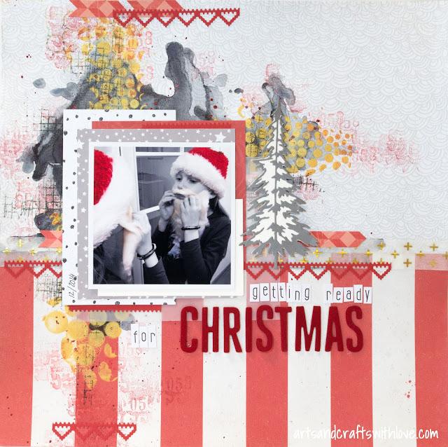 Jehkotar CRAFTChallenge sketch: Getting Ready For Christmas