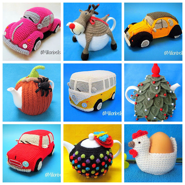 amigurumi cars and tea cozy crochet patterns