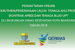 Rekrutmen Tenaga Ahli Profesi dan Tenaga Blud Dinas Kesehatan Kota Bandung 2018